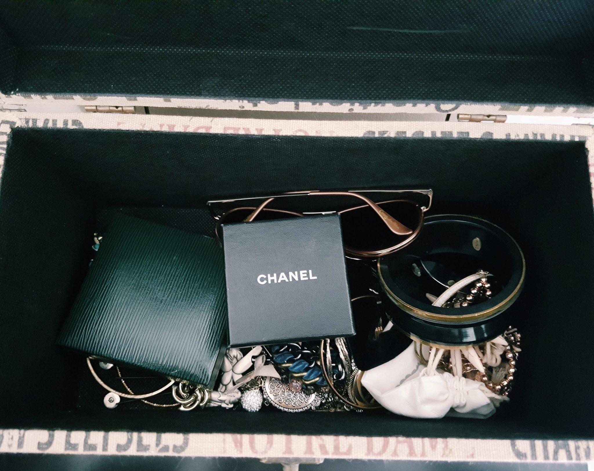 Inside jewellery box