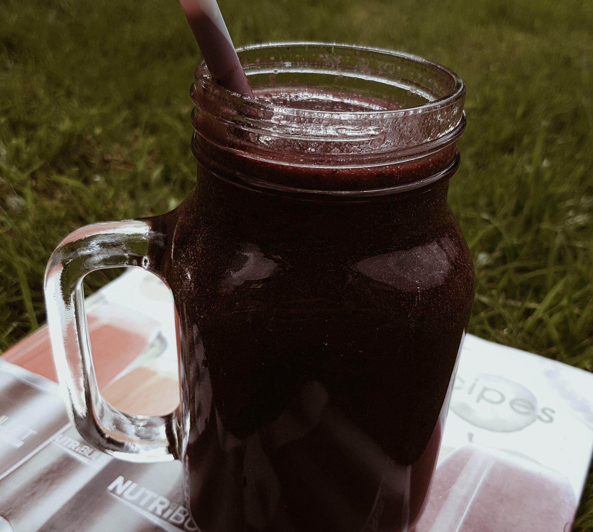 sugar-free drinks vegan purple smoothie
